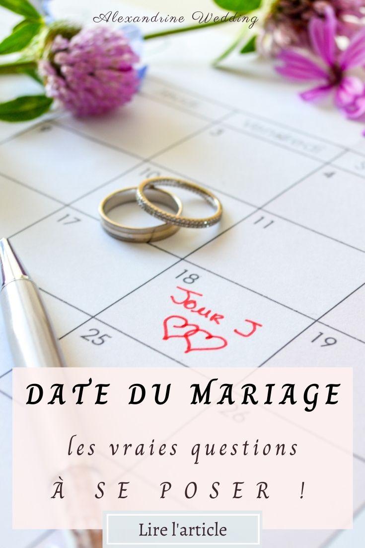 Date du mariage - Alexandrine wedding planner PARIS