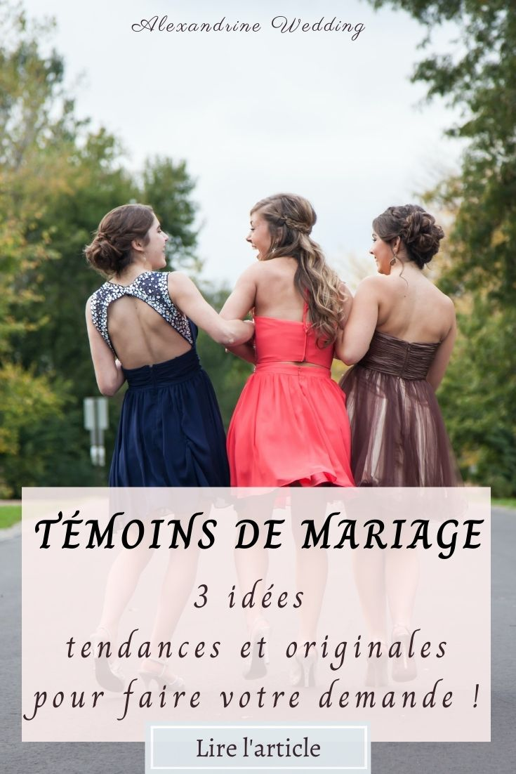 Demande témoins de mariage - Alexandrine Wedding Planner PARIS