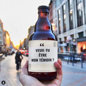 Bière demande témoins - Alexandrine Wedding Planner Yvelines